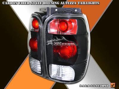 Headlights & Tail Lights - 19 inch Tenzo Racing - Custom - Carbon Tail Lights