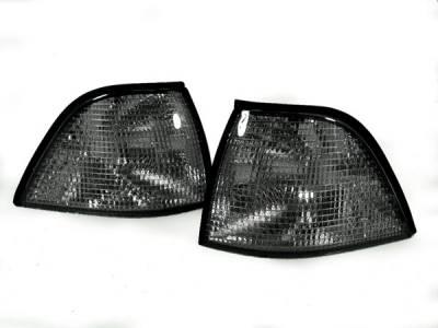 Headlights & Tail Lights - Corner Lights - Custom - E36 Euro Smoked Corner Lights