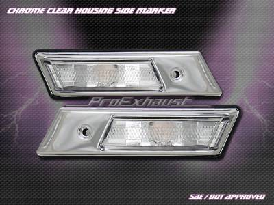 Headlights & Tail Lights - Corner Lights - Custom - BMW E36 Chrome Side Marker Lights