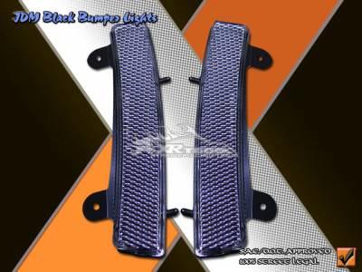 Headlights & Tail Lights - Corner Lights - Custom - Black Side Signal Bumper Lights