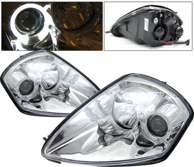 Headlights & Tail Lights - Headlights - 4 Car Option - Mitsubishi Eclipse 4 Car Option Halo Projector Headlights - Chrome - LP-ME00CB-YD