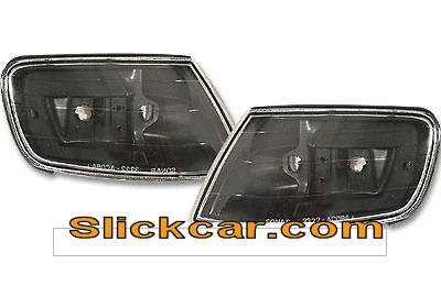 Headlights & Tail Lights - Corner Lights - Custom - JDM  Black Euro Corner Lights
