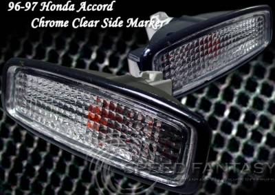 Headlights & Tail Lights - Corner Lights - Custom - Chrome Clear Bumper Lights