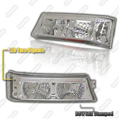 Headlights & Tail Lights - Corner Lights - Custom - JDM Chrome Bumper Lights