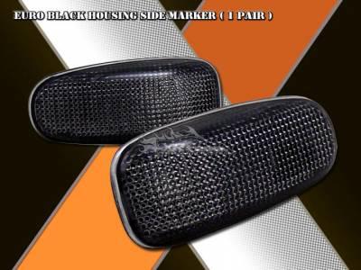 Headlights & Tail Lights - Corner Lights - Custom - Black Side Marker Lights