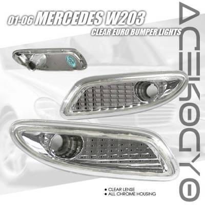 Headlights & Tail Lights - Corner Lights - Custom - Clear Bumper Lights