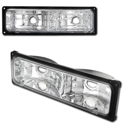 Headlights & Tail Lights - Corner Lights - Custom - Chrome Bumper Lights