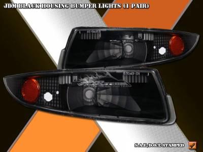 Headlights & Tail Lights - Corner Lights - Custom - JDM Black Bumper Lights