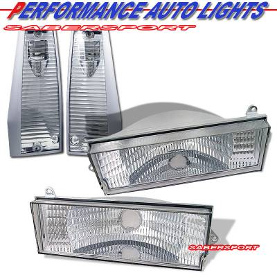 Headlights & Tail Lights - Corner Lights - Custom - Euro Clear Corner And Turn Signal Lights