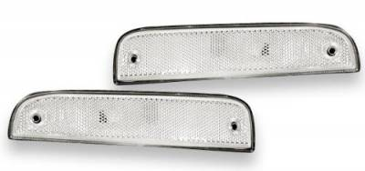 Headlights & Tail Lights - Corner Lights - Custom - Clear Front Bumper Lights