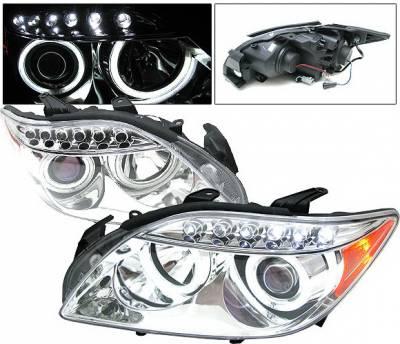 Headlights & Tail Lights - Headlights - 4 Car Option - Scion tC 4 Car Option LED Dual Halo Projector Headlights - Chrome CCFL - LP-STC04CB-KS