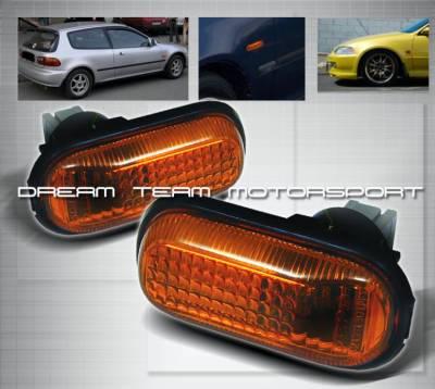 Headlights & Tail Lights - Corner Lights - Custom - Civic Amber Side Marker Lights
