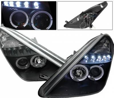 Headlights & Tail Lights - Headlights - 4CarOption - Toyota Celica 4CarOption Halo Projector Headlights - LP-TCEL00B-5