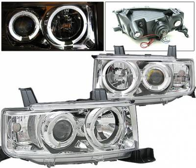 Headlights & Tail Lights - Headlights - 4 Car Option - Scion xB 4 Car Option Dual Halo Projector Headlights - Chrome - LP-TS02CB-YD