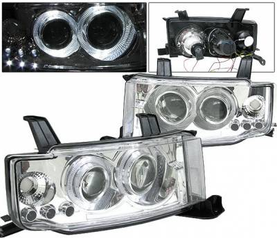 Headlights & Tail Lights - Headlights - 4 Car Option - Scion xB 4 Car Option Dual Halo Projector Headlights - Chrome - LP-TS02CC-1