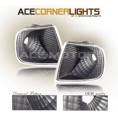 Headlights & Tail Lights - Corner Lights - Custom - Black Corner Lights