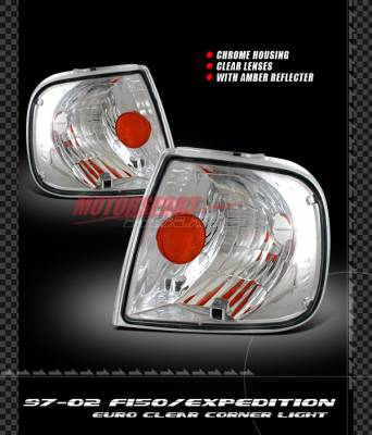 Headlights & Tail Lights - Corner Lights - Custom - Chrome Amber Corner Lights