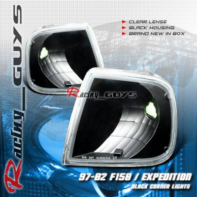 Headlights & Tail Lights - Corner Lights - Custom - Black Clear Lense Corner Lights