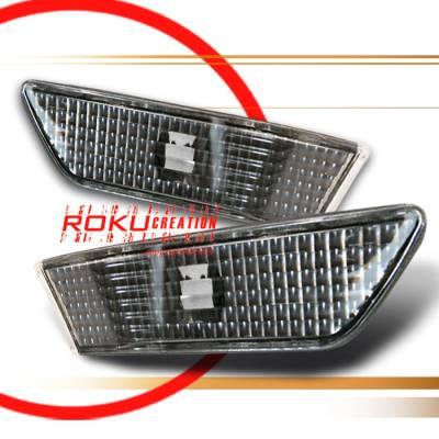 Headlights & Tail Lights - Corner Lights - Custom - Black Clear Bumper Lights