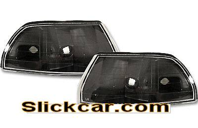 Headlights & Tail Lights - Corner Lights - Custom - JDM  Black Corner Lights