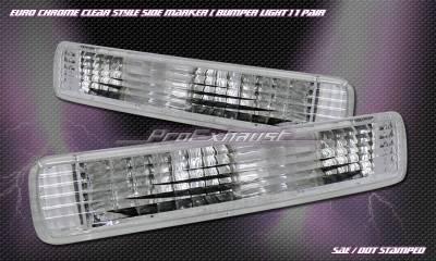 Headlights & Tail Lights - Corner Lights - Custom - Crystal Clear Bumper Lights