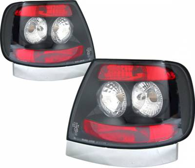 Headlights & Tail Lights - Tail Lights - 4 Car Option - Audi A4 4 Car Option Altezza Taillights - Black - LT-A496JB-YD