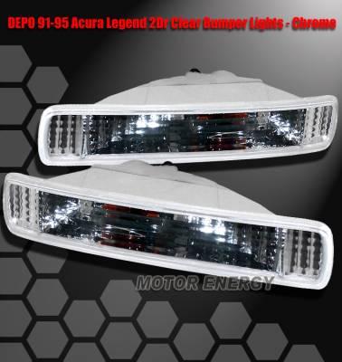 Headlights & Tail Lights - Corner Lights - Custom - JDM Chrome Clear Bumper Lights