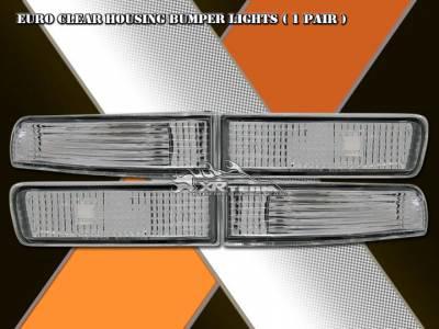Headlights & Tail Lights - Corner Lights - Custom - Euro Chrome Clear Bumper Lights