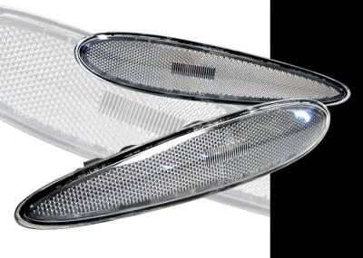 Headlights & Tail Lights - Corner Lights - Custom - Black Front Bumper Lights