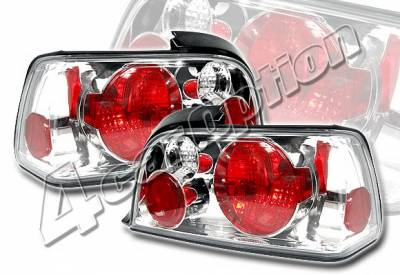 Headlights & Tail Lights - Tail Lights - 4 Car Option - BMW 3 Series 2DR 4 Car Option Altezza Taillights - V2 - Chrome - LT-B362A2-KS