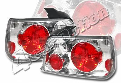 Headlights & Tail Lights - Tail Lights - 4 Car Option - BMW 3 Series 4DR 4 Car Option Altezza Taillights - V2 - Chrome - LT-B364A2-KS