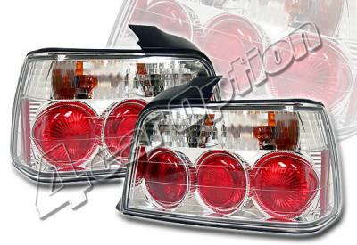 Headlights & Tail Lights - Tail Lights - 4 Car Option - BMW 3 Series 4DR 4 Car Option Altezza Taillights - Chrome - LT-B364A-KS