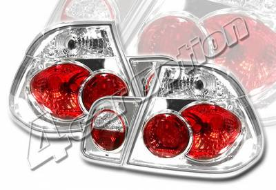Headlights & Tail Lights - Tail Lights - 4 Car Option - BMW 3 Series 4DR 4 Car Option Altezza Taillights - Chrome - LT-B464A-YD