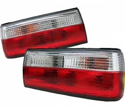Headlights & Tail Lights - Tail Lights - 4 Car Option - BMW 3 Series 4 Car Option Taillights - Red & Clear - LT-BE30RC-9