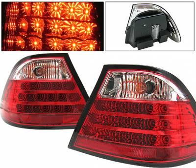 Headlights & Tail Lights - Led Tail Lights - 4 Car Option - BMW 3 Series 2DR 4 Car Option LED Taillights - Red & Clear - 4PC - LT-BE46992LEDRC