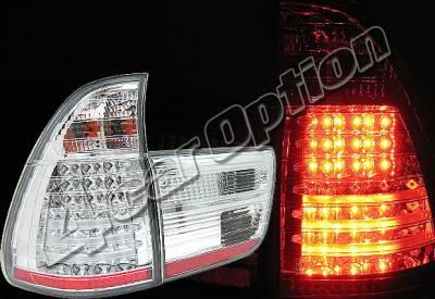 Headlights & Tail Lights - Led Tail Lights - 4 Car Option - BMW X5 4 Car Option LED Taillights - Chrome - LT-BE5300LEDC-YD