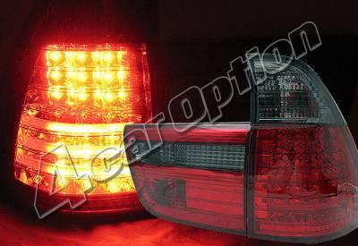 Headlights & Tail Lights - Led Tail Lights - 4 Car Option - BMW X5 4 Car Option LED Taillights - Red & Smoke - LT-BE5300LEDRSM-YD
