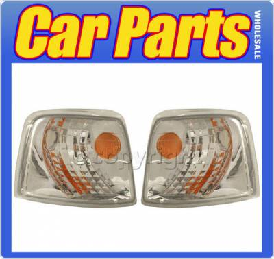Headlights & Tail Lights - Corner Lights - Custom - Euro Crystal Clear Corner Lights