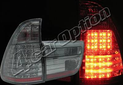 Headlights & Tail Lights - Led Tail Lights - 4 Car Option - BMW X5 4 Car Option LED Taillights - Smoke - LT-BE5300LEDSM-YD