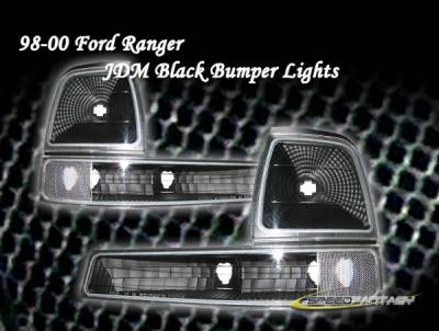 Headlights & Tail Lights - Corner Lights - Custom - Euro Black Signal Lights