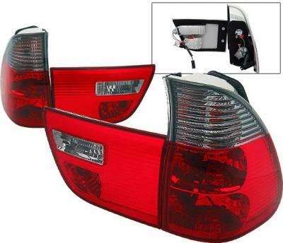 Headlights & Tail Lights - Tail Lights - 4 Car Option - BMW X5 4 Car Option Euro Taillights - Red & Smoke - LT-BE5300RSM-9