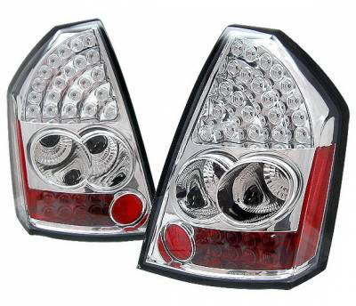 Headlights & Tail Lights - Led Tail Lights - 4 Car Option - Chrysler 300 4 Car Option LED Taillights - Chrome - LT-C300CC-LED