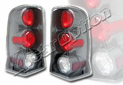 Headlights & Tail Lights - Tail Lights - 4 Car Option - Cadillac Escalade 4 Car Option Altezza Taillights - Carbon Fiber Style - LT-CAE02F-YD