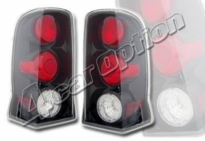 Headlights & Tail Lights - Tail Lights - 4 Car Option - Cadillac Escalade 4 Car Option Altezza Taillights - Black - LT-CAE02JB-YD