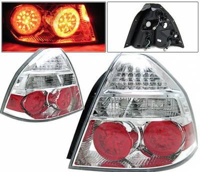Headlights & Tail Lights - Led Tail Lights - 4 Car Option - Chevrolet Aveo 4 Car Option LED Taillights - Chrome - LT-CAV07LEDC-KS