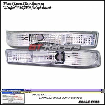Headlights & Tail Lights - Corner Lights - Custom - Euro Chrome Bumper Lights