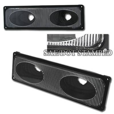 Headlights & Tail Lights - Corner Lights - Custom - Black Clear Bumper Lights