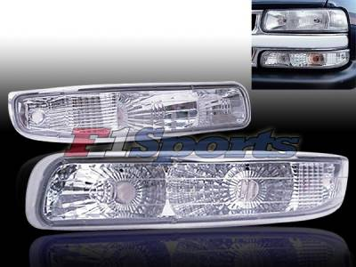 Headlights & Tail Lights - Corner Lights - Custom - Euro Clear Bumper Lights