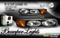 Headlights & Tail Lights - Corner Lights - Custom - JDM Black Bumper Lights
