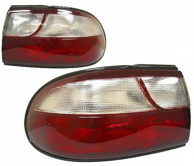 Headlights & Tail Lights - Tail Lights - 4 Car Option - Chevrolet Malibu 4 Car Option Taillights - Red & Clear - LT-CMALI97RC-KS